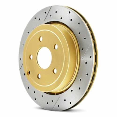 RENAULT Främre DBA disc brake - Street Series - X-GOLD Cross-Drilled & Slitsad Bromsskiva (Singel) DBA