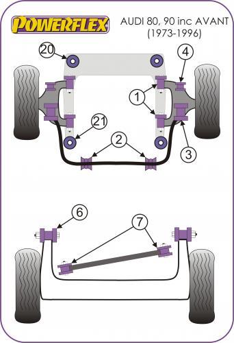 PFF85-235 Motorfäste Stopper-Bussning  Powerflex