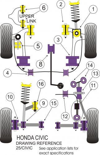 Del Sol Integra 16pcs CRX Accord ARP Extended Wheel Studs 92-00 Civic