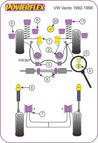 1992-1998 PFR85-240BLK SUPPORTI POWERFLEX BLACK Volkswagen Vento ,2