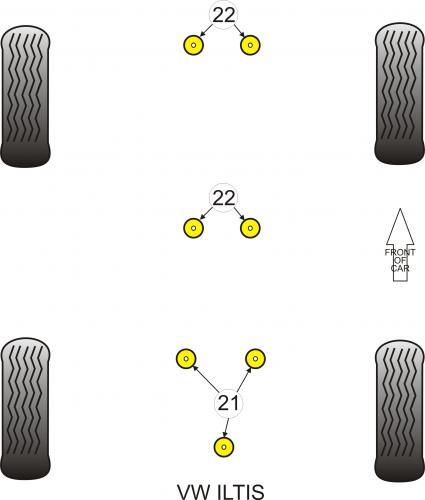 PFR85-1020KIT3 Diff.bussningar (Kit med 3st)  Powerflex
