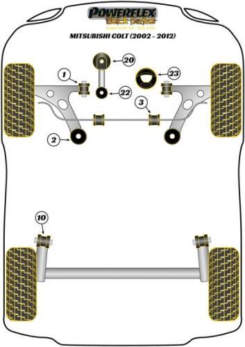 PFF44-501BLK Främre Wishbone-bussningar Främre  Black Series Powerflex