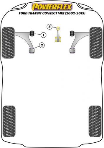 PFF19-2302 Främre Wishbone-bussningar Bakre   Powerflex