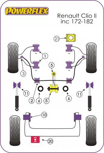 PFF60-1120 Främre Topplagringar  Powerflex