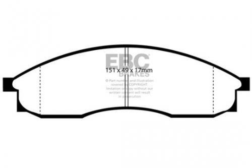 DP1046 Ultimax2 Front Brake Pads (Street) EBC Brakes