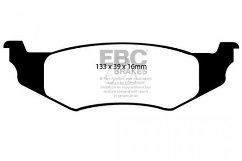DP1066 Ultimax2 Rear Brake Pads (Street) EBC Brakes