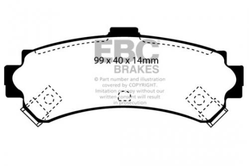 DP1067 Ultimax2 Rear Brake Pads (Street) EBC Brakes