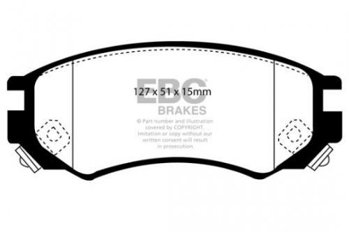 DP1101 Ultimax2 Främre Bromsbelägg (Gata) EBC Brakes