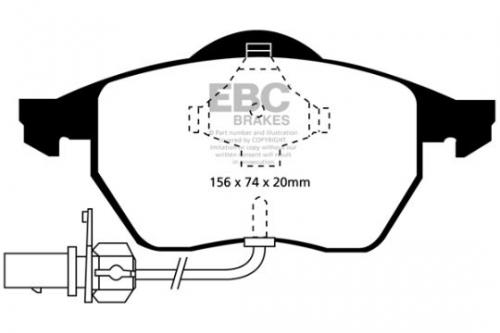 DP1114 Ultimax2 Front Brake Pads (Street) EBC Brakes