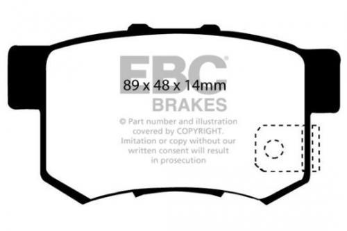 DP1193 Ultimax2 Bakre Bromsbelägg (Gata) EBC Brakes