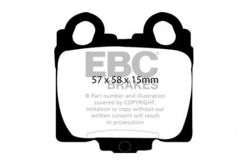 DP1224 Ultimax2 Rear Brake Pads (Street) EBC Brakes