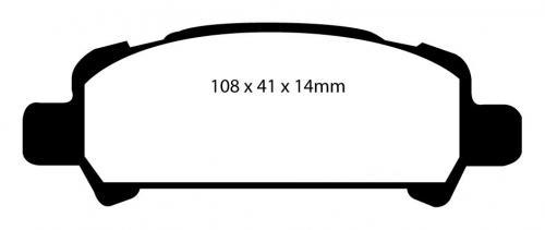 DP1293 Ultimax2 Bakre Bromsbelägg (Gata) EBC Brakes