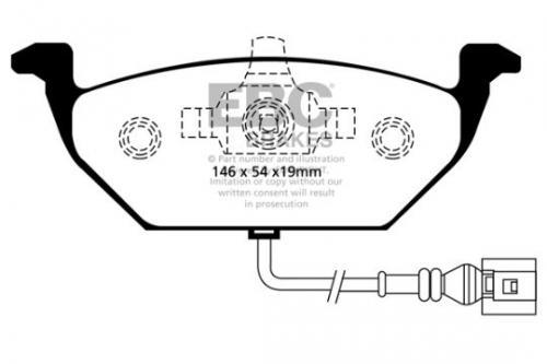 DP1329 Ultimax2 Front Brake Pads (Street) EBC Brakes