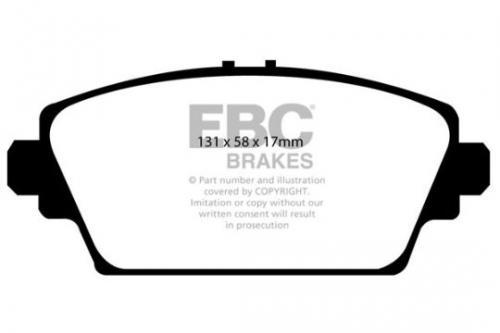 DP1339 Ultimax2 Front Brake Pads (Street) EBC Brakes