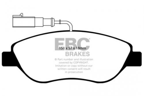 DP1382 Ultimax2 Front Brake Pads (Street) EBC Brakes
