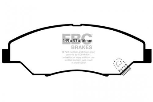 DP1404 Ultimax2 Främre Bromsbelägg (Gata) EBC Brakes