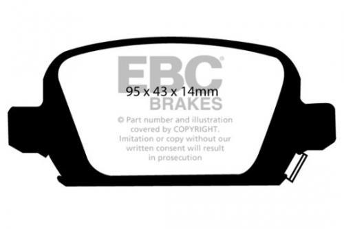DP1410 Ultimax2 Rear Brake Pads (Street) EBC Brakes