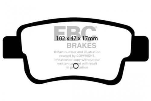 DP1599 Ultimax2 Rear Brake Pads (Street) EBC Brakes