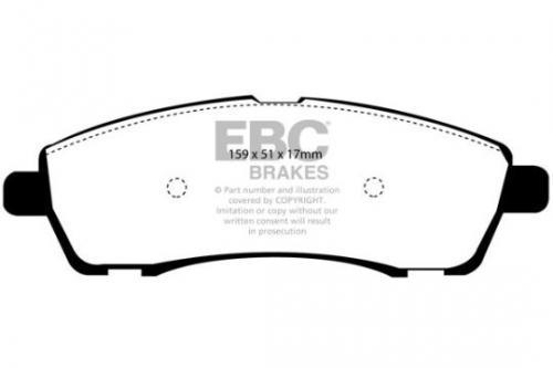 DP1603 Ultimax2 Bakre Bromsbelägg (Gata) EBC Brakes