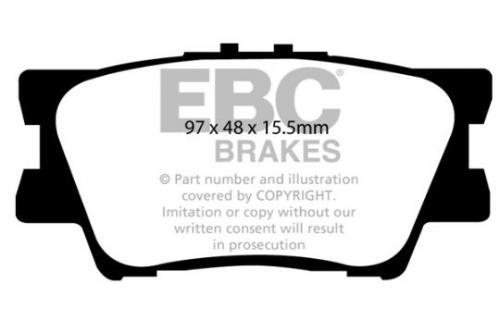 DP1793 Ultimax2 Rear Brake Pads (Street) EBC Brakes