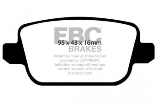 DP1933 Ultimax2 Rear Brake Pads (Street) EBC Brakes