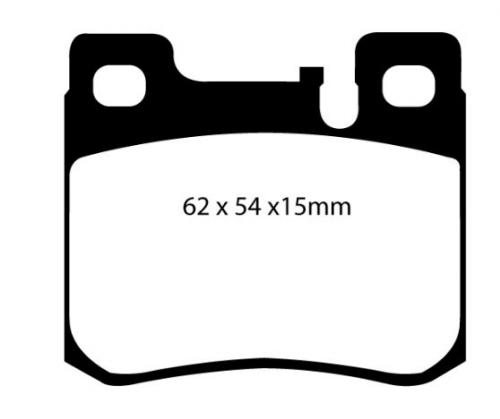DP21026 Greenstuff Rear Brake Pads (Street) EBC Brakes