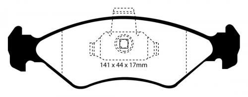 DP21050 Greenstuff Front Brake Pads (Street) EBC Brakes