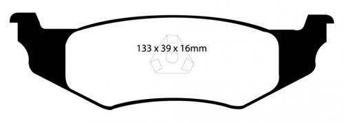 DP21066 Greenstuff Rear Brake Pads (Street) EBC Brakes