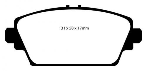 DP21339 Greenstuff Front Brake Pads (Street) EBC Brakes