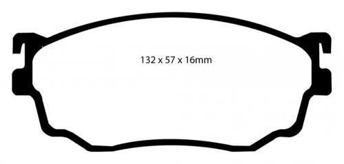DP21411 Greenstuff Front Brake Pads (Street) EBC Brakes