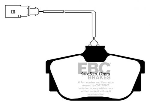 DP21445 Greenstuff Rear Brake Pads (Street) EBC Brakes