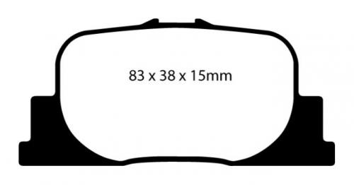 DP21456 Greenstuff Rear Brake Pads (Street) EBC Brakes