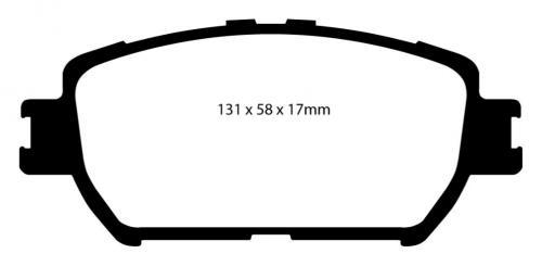 DP21642 Greenstuff Front Brake Pads (Street) EBC Brakes