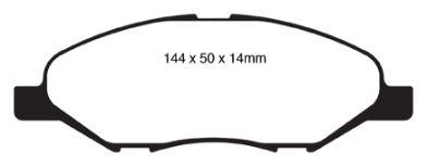 DP21832 Greenstuff Front Brake Pads (Street) EBC Brakes