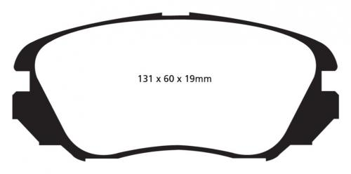 DP22013 Greenstuff Front Brake Pads (Street) EBC Brakes