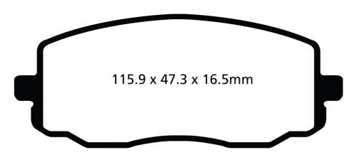 DP22050 Greenstuff Front Brake Pads (Street) EBC Brakes