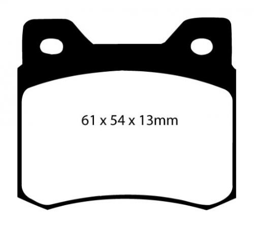 DP2464 Greenstuff Rear Brake Pads (Street) EBC Brakes
