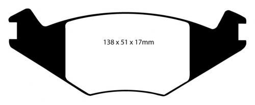 DP2515 Greenstuff Front Brake Pads (Street) EBC Brakes
