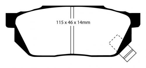 DP2570 Greenstuff Front Brake Pads (Street) EBC Brakes