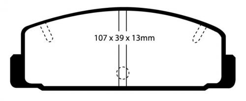 DP2729 Greenstuff Rear Brake Pads (Street) EBC Brakes