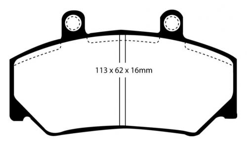 DP2800 Greenstuff Front Brake Pads (Street) EBC Brakes