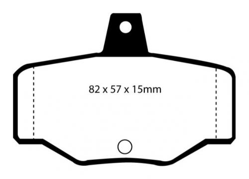 DP2834 Greenstuff Rear Brake Pads (Street) EBC Brakes