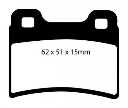 DP2953 Greenstuff Rear Brake Pads (Street) EBC Brakes