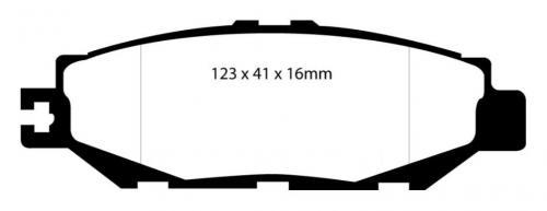DP31008C Redstuff Bakre Bromsbelägg (Gata) EBC Brakes