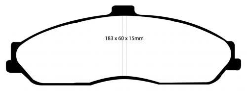 DP31162C Redstuff Front Brake Pads (Street) EBC Brakes