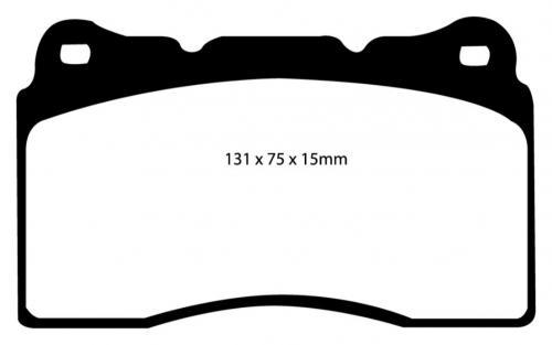 DP31210C Redstuff Front / Bakre Brake Pads (Street) EBC Brakes