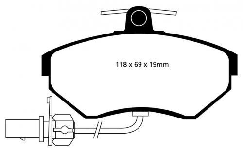 DP31351C Redstuff Front Brake Pads (Street) EBC Brakes