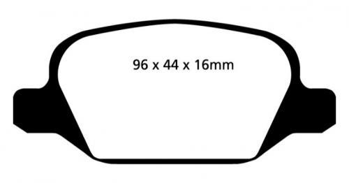 DP31430C Redstuff Bakre Bromsbelägg (Gata) EBC Brakes