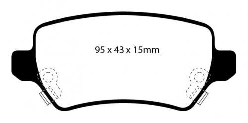 DP31447C Redstuff Bakre Bromsbelägg (Gata) EBC Brakes