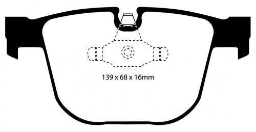 DP31451C Redstuff Bakre Bromsbelägg (Gata) EBC Brakes